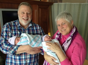 A Grandparents & 1st day twins