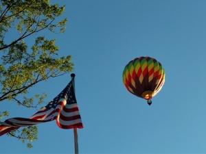 2011 hot air balloon by our flag