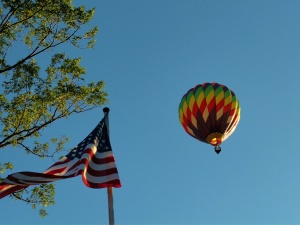 2011 hot air balloon by our flag