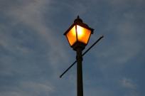 17 Lit Lamp Post